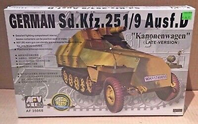 AFV Club 1:35 Scale 35068 German Sd.Kfz.251/9 Ausf.D WW2 Military Kit