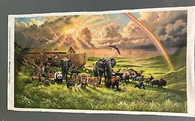Noah's Ark Fabric (Noah's Ark After the Flood Fabric Panel Elizabeth's Studio)