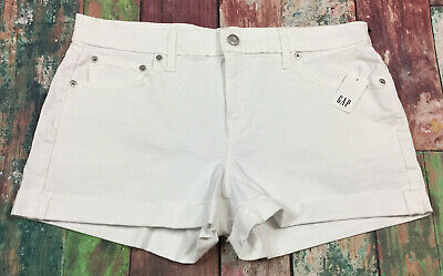Gap Women's Size 10 White Denim 3 Inch Denim Jean Shorts. NWT