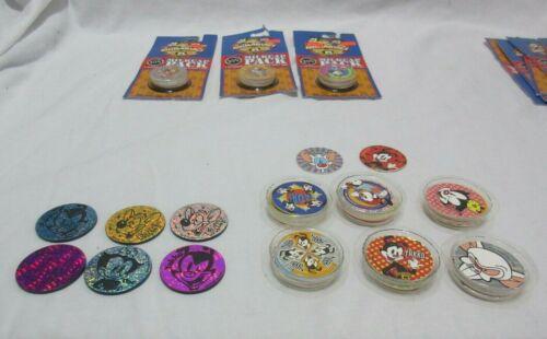 Huge Lot of Vintage Animaniacs 65 Pogs & 9 Slammers Some Duplicates BIN OOP
