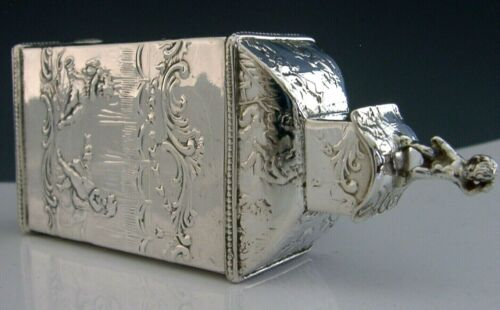 STUNNING STERLING SILVER TEA CADDY BOX 1902 ANTIQUE
