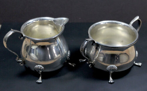 Revere Silversmiths Sterling Silver Sugar Bowl and Creamer 1051   Excellent!