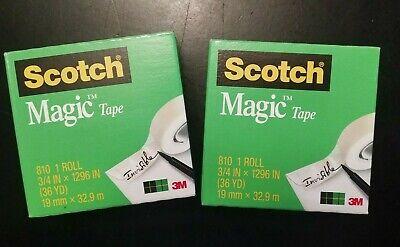 2 Rolls Scotch Magic Tape 3m 810 34 Inch X 1296 Inch 36 Yard Refill