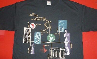 Vintage New T-shirt.Fine Art.Egyptian.Roman.Greek.Sculpture.XL.Egypt.MET.MoMA