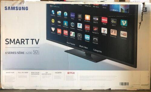 "Samsung 50"" Class (49.5"" Diag.) LED 1080p Smart HDTV Black UN50J6200AFXZA"