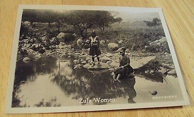 "AUTHENTIC 1920's Souvenir Photo~""ZULU TRIBESWOMEN""~South Africa~Native Dress~"