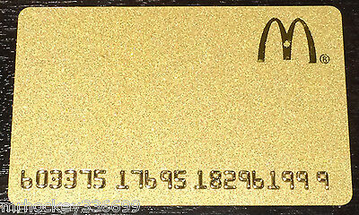 2015 McDonald's CANADA GOLD CARD collectors GIFT CARD (NCV)
