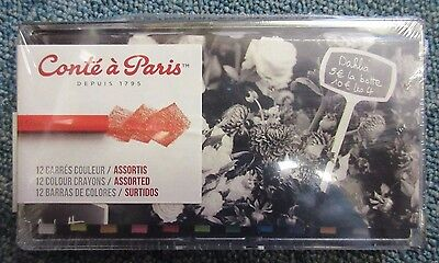 Conte a Paris - 12 Assorted Artists Quality Conte Carres Square Pastels Set