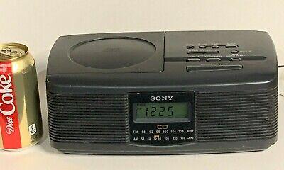 ===> Sony AM/FM Stereo Radio Alarm Clock With CD Player--Dbl Box Ship  [382]