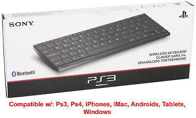 Sony Slim Universal Bluetooth Wireless Keyboard For PS3 PS4 iPhone iMac Android