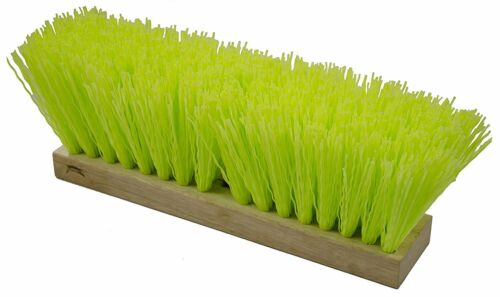 "Magnolia Brush #1316-VS 16"" Green Poly High Visibility Street Broom Head"