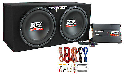 MTX Audio TNP212D2 Terminator Power Pack Subwoofer System -