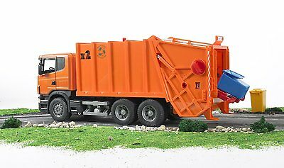 Bruder SCANIA R-series Garbage Toy Truck Orange # 03560 NEW SAME DAY SHIPPING
