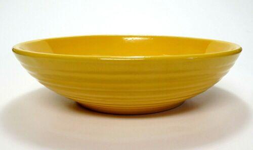 "Vintage Original Bauer Ringware Yellow 9"" Salad Serving BOWL Nice & Clean"