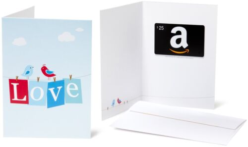 $25 Amazon Gift Card + a Greeting Card. Never Expires! Fast Free 1-day Delivery!