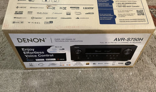 DENON AVR-S750H Receiver, Full 4k HD 7.2 Channel Home Theater BRAND NEW IN BOX  - $449.99