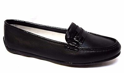 sz 6 / 36 CHELMAN Handmade in Italy 'Vernice' Leather Loafers black shoes BNIB!