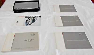 2004 NISSAN QUEST OWNER MANUAL 6/PC.SET & GRAY/BLACK NISSAN ZIPPERED CASE