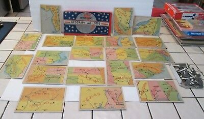 Vintage GAME 30's United States Geographical Lotto