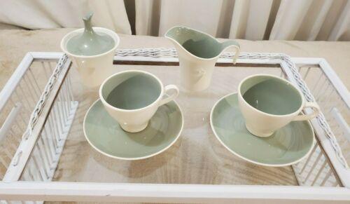 Vintage Harkerware Coffee Set Including  Retro Cream Pitcher & Sugar Bowl W/ Lid