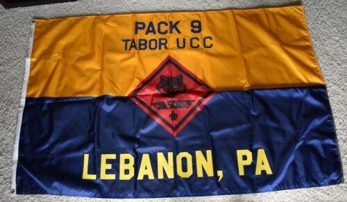 BOY SCOUT- CUB PACK 9 PACK FLAG - LEBANON, PA - 3x5 NYL-GLO