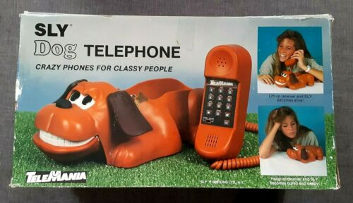 Vintage 1987 Telemania Sly the Spotted Hound Dog Push Button Telephone