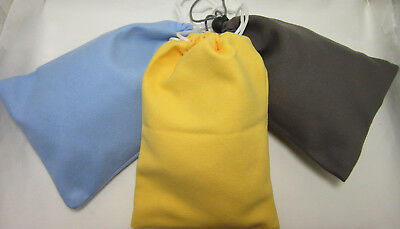 - 3 PCS Microfiber Suede Camera Lens  Dust Bag/Cleaning Pouch Unbranded Mini Case