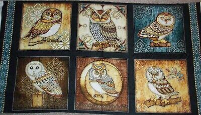 Morris Bird (Bird of Prey OWL Patch Cotton Fabric Dan Morris Fabric)