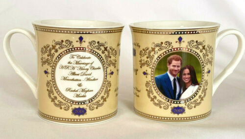 2018 ROYAL WEDDING of HARRY & MEGHAN Fine China COFFEE TEA MUG Cup 24k Gold