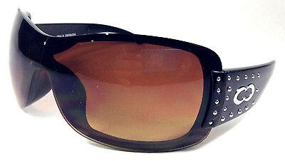 2316NC,SUNGLASSES,BROWN,SHIELD,ONE,LENS,OCULOS OS (One Sun Sunglasses)