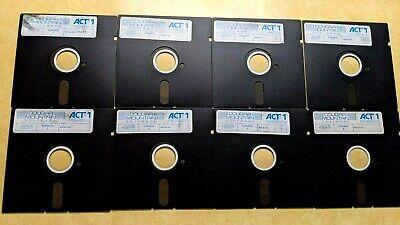 "Cougar Mountain ACT 1 SERIES Accounting Program - 8 Original 5 1/4"" Floppy Disks"
