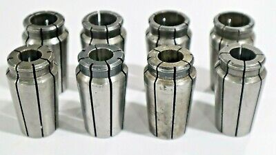 8 Pcs Universal Acura-flex Collets For 1 Capacity Collet Chuck  C524