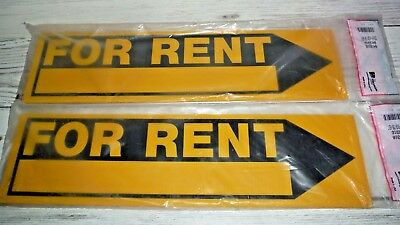 2 New Hillman 6 X 24 For Rent Signs Outdoor Plastic Real Estate House