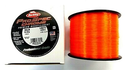Berkley ProSpec Chrome Mono Fishing Line 30 Lb - 1480 Yards Spool Blaze Orange  ()