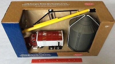 Peterbilt Model 367 Straight Truck, Grain Box Bin Auger 1:32 Farm Harvesting (Grain Bin Augers)