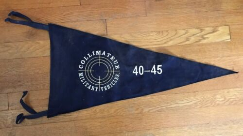 WWII Collimateur Military Vehicles 40-45 Military Vehicle Club Pennant