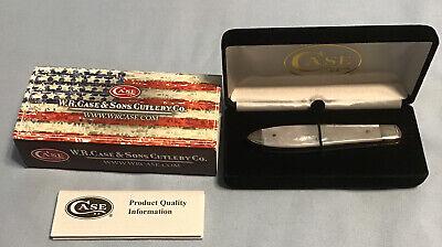 Case Cutlery TB81028SS Tony Bose Mother Of Pear Teardrop Gentlemans Pocket Knife