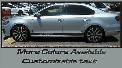 Volkswagen Jetta Turbo R type Rocker Panel Vinyl Graphics Decals CLOSEOUT SALE