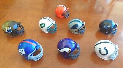 """Riddell Mini Football Helmets 2"""" x 1.5"""" NFL Fan Sports Souvenirs 2014-2015"""