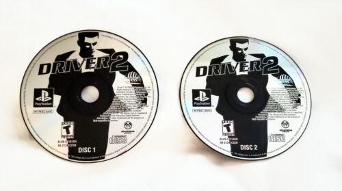 Driver 2 Sony PlayStation 1 PS1 Game - DISCS ONLY -- Tested Working - $6.99