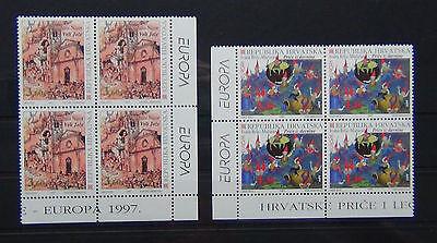 Croatia 1997 Europa Tales & Legends set in Blocks x 4 MNH