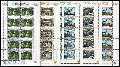 1996 Churches, Monasteries, Rudi, Curchi, Capriana, Japca, Saharna, Moldova, 200, KB/MNH