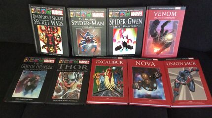 9 MARVEL HC  graphic novels- Spider-Man, Deadpool, Venom, Thor, X-Men
