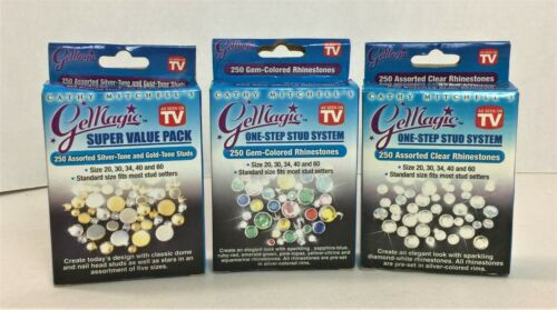 Cathy Mitchell's As Seen On Tv Gemagic One Step Stud System 3 pkgs NEW #20H