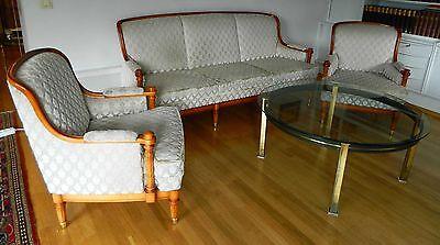 Sofagarnitur Sofa + 2 Sessel Chippendale Rokoko Barock Original Warrings