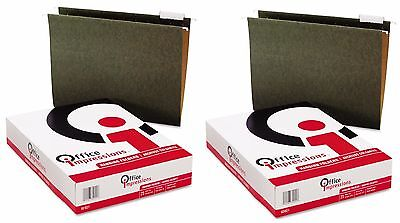 New 50 Pack Letter Size Hanging File Folders 15 Tab Office Impressions - New