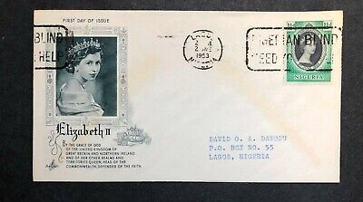 Nigeria 1953 Coronation FDC First Day cover