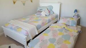 KING SINGLE BED & SINGLE TRUNDLE - AUSTRALIAN MADE - WHITE Williamstown Hobsons Bay Area Preview