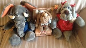 3 Vintage Wrinkles Puppets Dogs & Elephant '81-'85