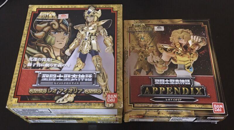 Saint Seiya Myth Gold Cloth Leo Aioria Aiolia and Appendix SET